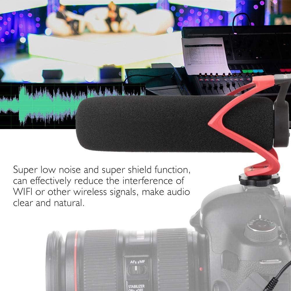 Red CVM-V30 Condenser Microphone,Professional Mini Video Recording Supercentroid Smartphone//Camera Audio MIC with 1//4 Screw Hole Cold Shoe Design