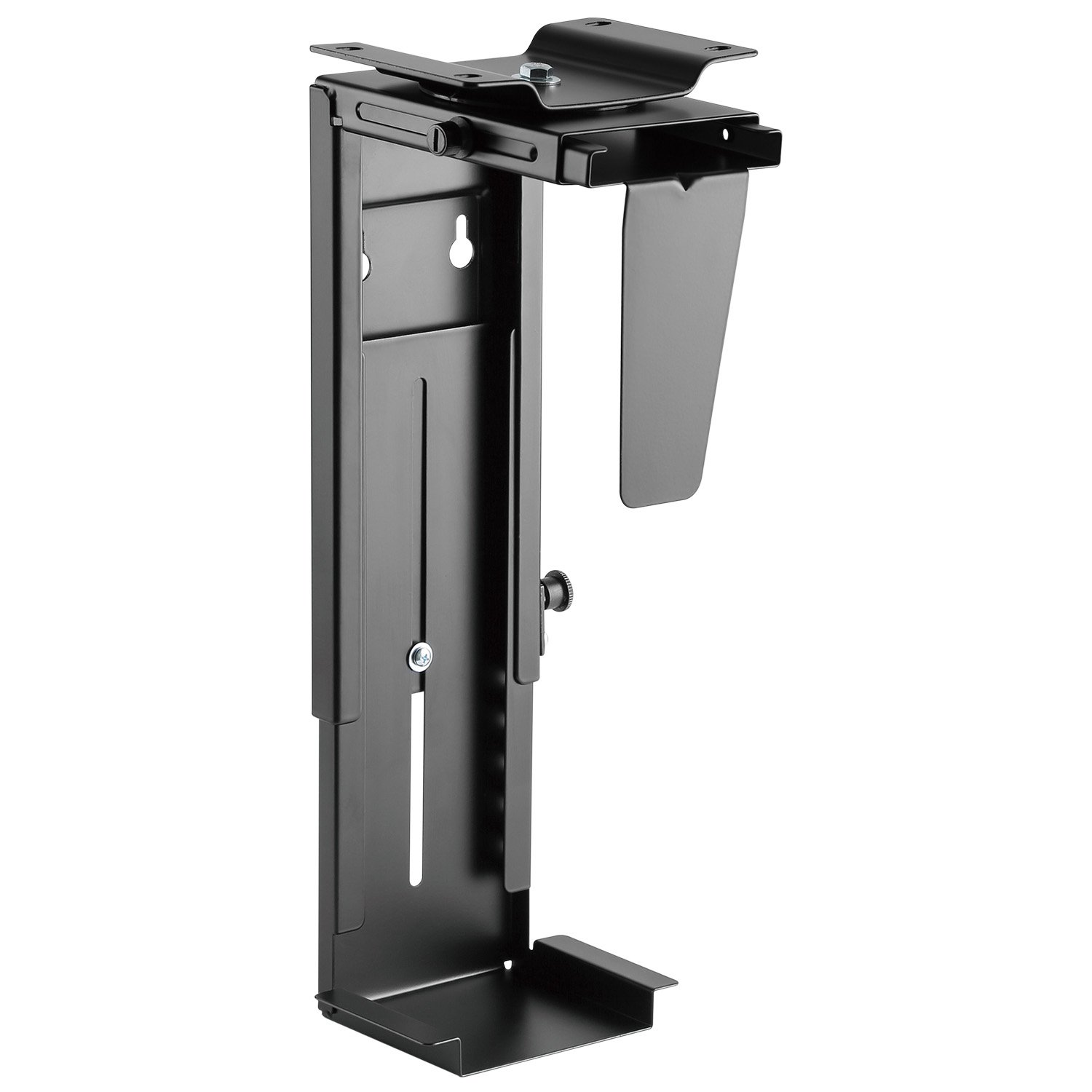 Universal Adjustable Under Desk PC CPU Mount, Wall PC Mount with 360°Swivel, Heavy Duty Computer Tower Holder Holds Up to 22lbs by HUANUO by HUANUO (Image #1)