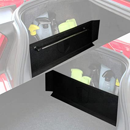SUV 22.4 x 7.08 inches RED SHIELD Auto Trunk Organizer with Towel Rack for Car or Minivan Black