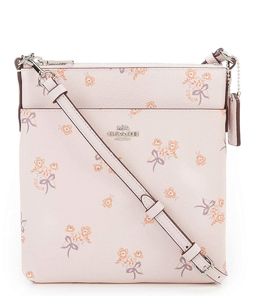 COACH FLORAL BOW PRINT MESSENGER CROSS BODY BAG