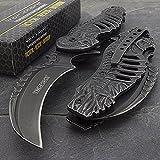 tac force spring assisted open skull skeleton claw folding blade pocket knife