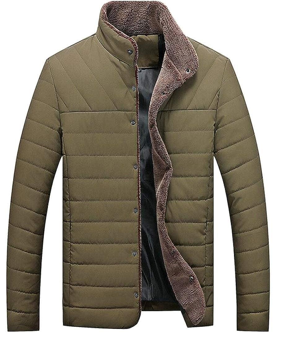 WSPLYSPJY Mens Warm Stand Collar Slim Down Puffer Jacket Coat