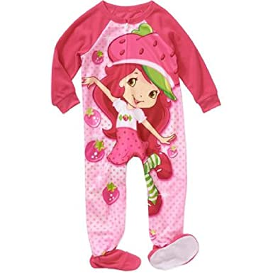 c301c14039 Image Unavailable. Image not available for. Color  Strawberry Shortcake  Girl Footed Pajamas Blanket Sleeper ...