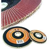 "20 New 4.5"" 40 Grit Aluminum Oxide Flat Flap Disc Grinding Sanding Wheels"