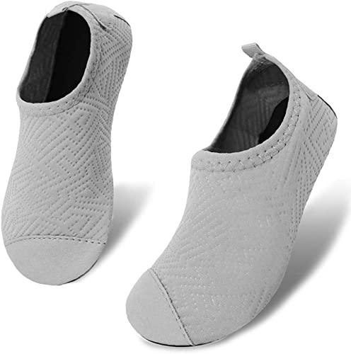 Amazon.com | Romote Kids Boys and Girls Summer Athletic Water Shoe Aqua  Sock for Beach Swimming Pool Grey 2.5-3 Toddler | Athletic & Outdoor