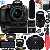 Nikon D5600 Digital SLR Camera + AF-P 18-55mm VR & Sigma 70-300mm Macro Dual Lens Tascam Video Creator Bundle