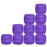 Cotton Crochet Yarn Cross Stitch Purple Knitting Thread Balls Tatting Doilies Skeins Lacey Craft 10 Pcs