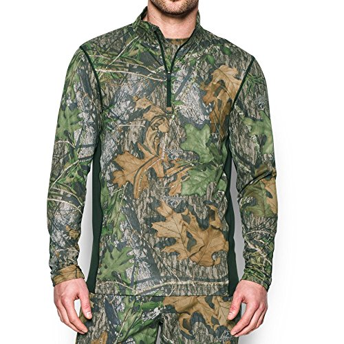 Under Armour Men's Tech Scent Control 1/4 Zip, Mossy Oak Obsession/Saddle, X-Large