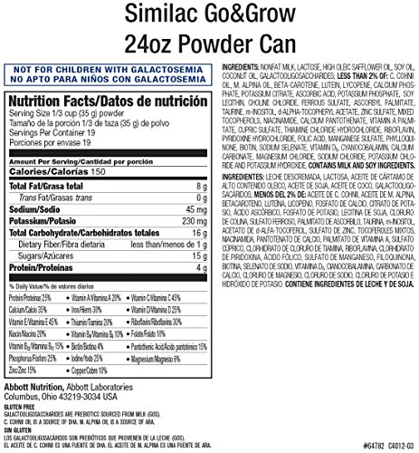 Similac Go & Grow Milk-Based Toddler Drink, Powder, 24 oz (Pack of 6) by Similac (Image #7)