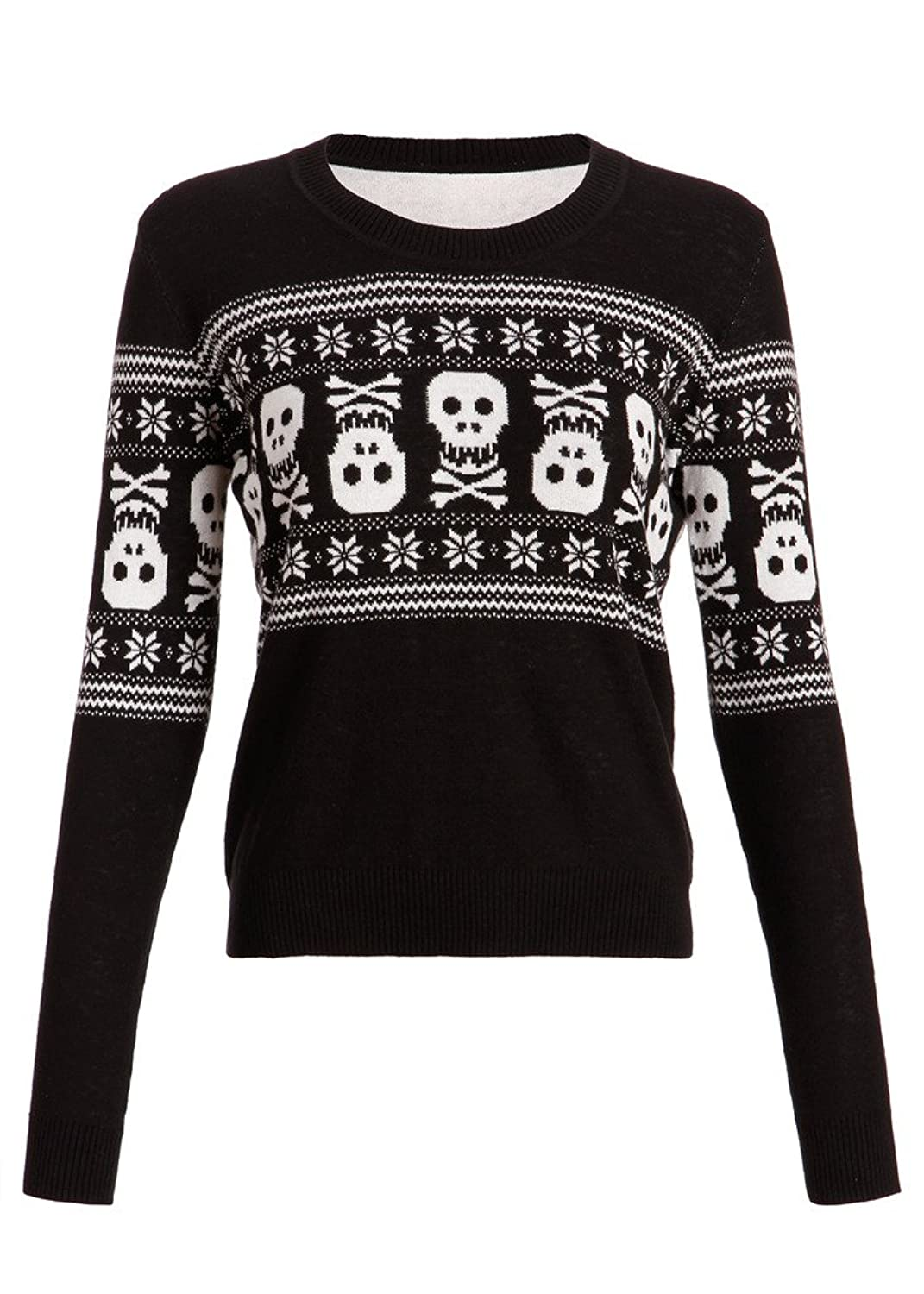 Womens Holiday Inspired Skull Ugly Christmas Sweater at Amazon ...