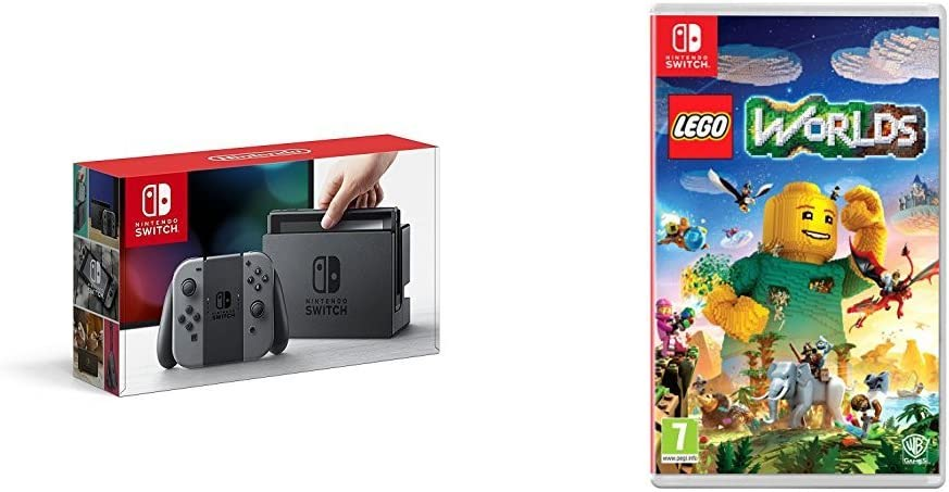 Nintendo Switch - Consola, color gris + Lego Worlds: Amazon.es ...