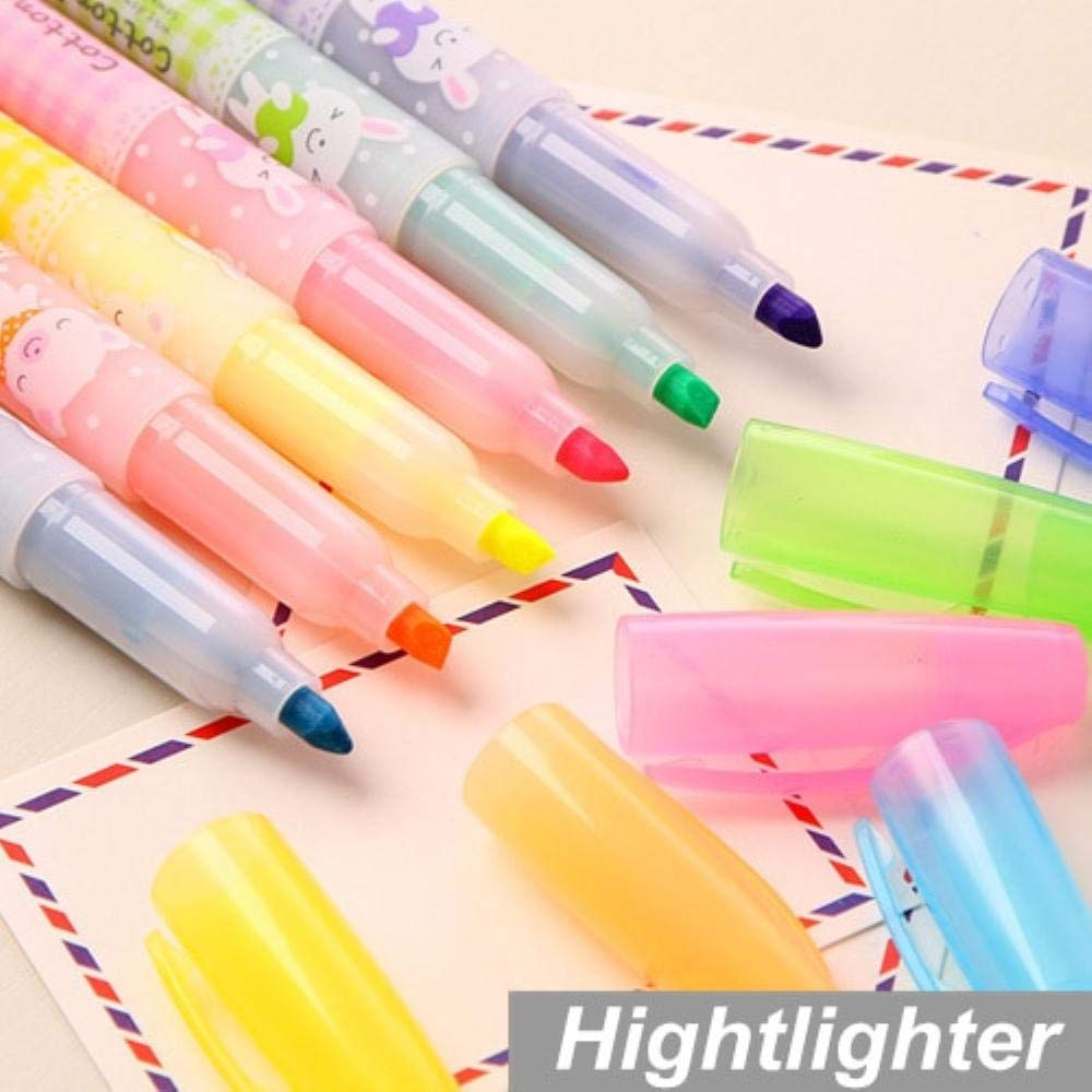 30 pcs/Lot Highlighter pen Candy color Cotton doll design Marker Luminescent paint Stationery material supplies