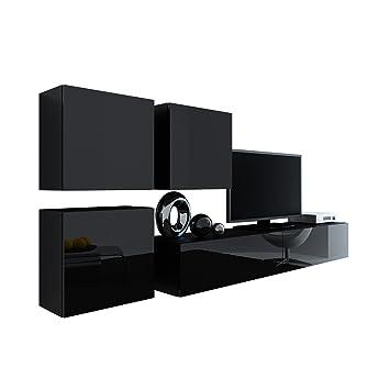 Wohnwand Vigo XXIII Design Mediawand Modernes Wohnzimmer Set Anbauwand Hngeschrank TV Lowboard