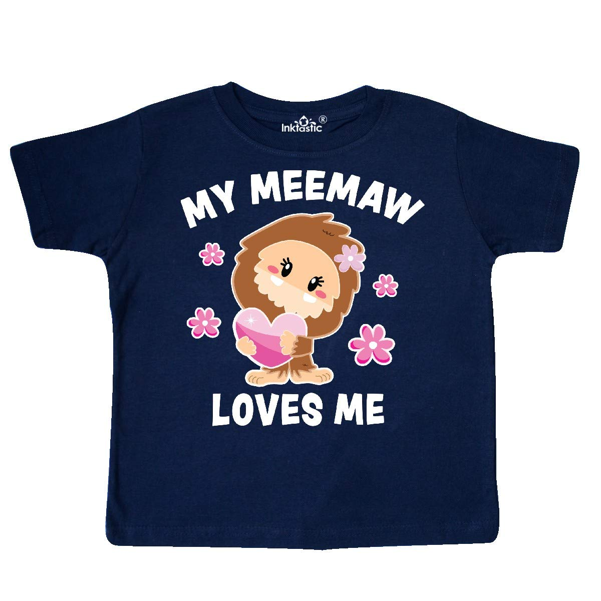 inktastic My Meemaw Loves Me with Bigfoot Toddler T-Shirt