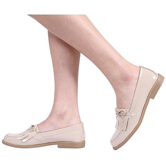 CORE COLLECTION Aviva - Mocasines para mujer crudo (Nude Patent): Amazon.es: Zapatos y complementos