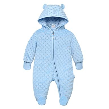 d4ed2166e Vine Newborn Baby Hooded Fleece Romper Snowsuit Infant Onesies ...
