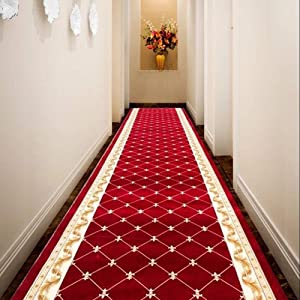 QTT Jacquard Runner Rugs Contemporary Printed Carpet Floral Throw Mat for Hallway Entryway Home Decor Multi Size TTaN (Color : RG, Size : 5'3''(W) X9'10''(L))