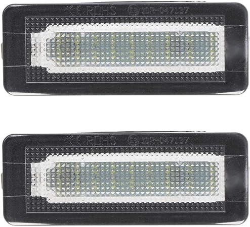Gwxevce 2x 18 Smd Led Kennzeichenbeleuchtung Lampe Fehlerfrei Für Benz Smart Fortwo Coupe Cabrio 450 451 W450 W453 Küche Haushalt
