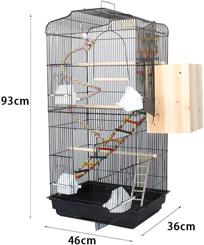Z-W-Dong Súper Grande de la Jaula del Loro, Tiene Capacidad for 4-5 Aves reproductoras Jaula Jaula Doble Puerta Diseño Birdcage Gran Espacio con Swing Juguete Etc. Jaulas para pájaros