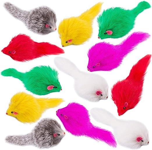 Yangbaga Juguetes para Gatos Juguetes Interactivo Ratón y Bolas Varias con Campanas y Plumas, Cabezas de Repuesto y Catnip Ball Incluido Gatito Gato (12pc): Amazon.es: Productos para mascotas
