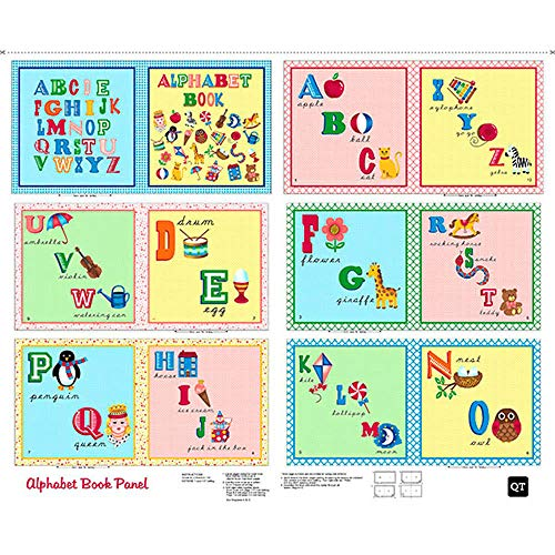 Quilting Treasures Sew & Go Alphabet 36 Inch Book Panel for sale  Delivered anywhere in USA