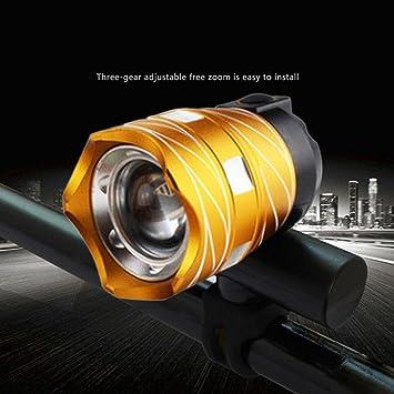 qhj Set de iluminación LED para bicicleta faro lámpara/bicicleta ...
