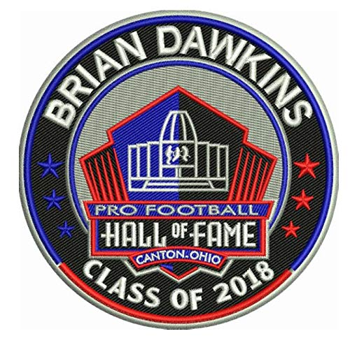 Football Brian Dawkins 2018 PRO Hall of Fame Patch Eagles Shipping Now!!!