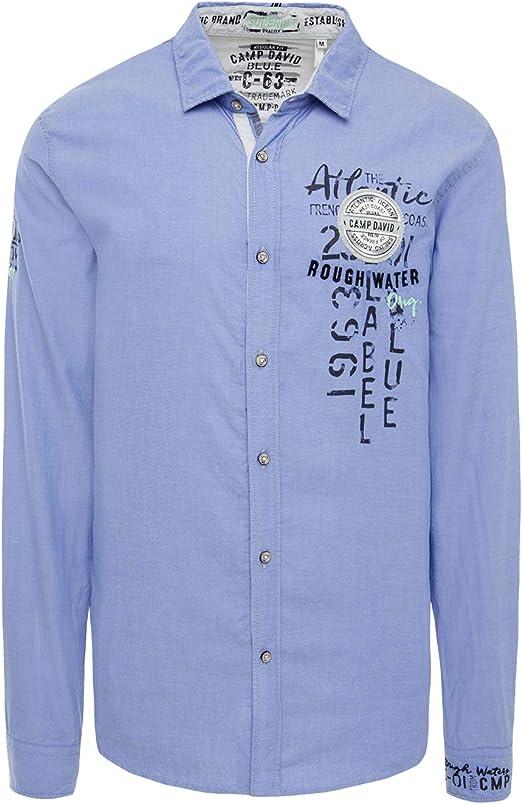 Camp David Camisa Oxford para hombre con Artwork