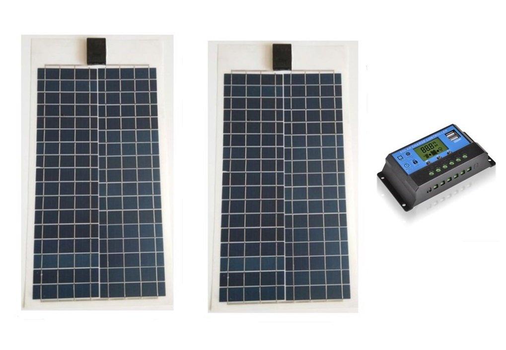 大人気新作 SAYA 柔軟性フレキシブル SAYA ソーラーパネル 100W B07FNX9FQS 2枚 200W 15Aソーラーコントローラー2個 B07FNX9FQS 200W, コトウラチョウ:5a88c528 --- itourtk.ru