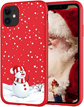 Pnakqil pour Coque iPhone 11 Rouge Silicone avec Motif Cadeau de Noël Mignon Stylé Dessin Souple Case Gel TPU Ultra Fine Antichoc Housse de Protection ...