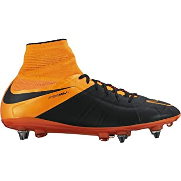 innovative design 463f1 8c7dd Nike Hypervenom Phantom II Lthr SG-Pro Mens Soccer Shoes (7, Black