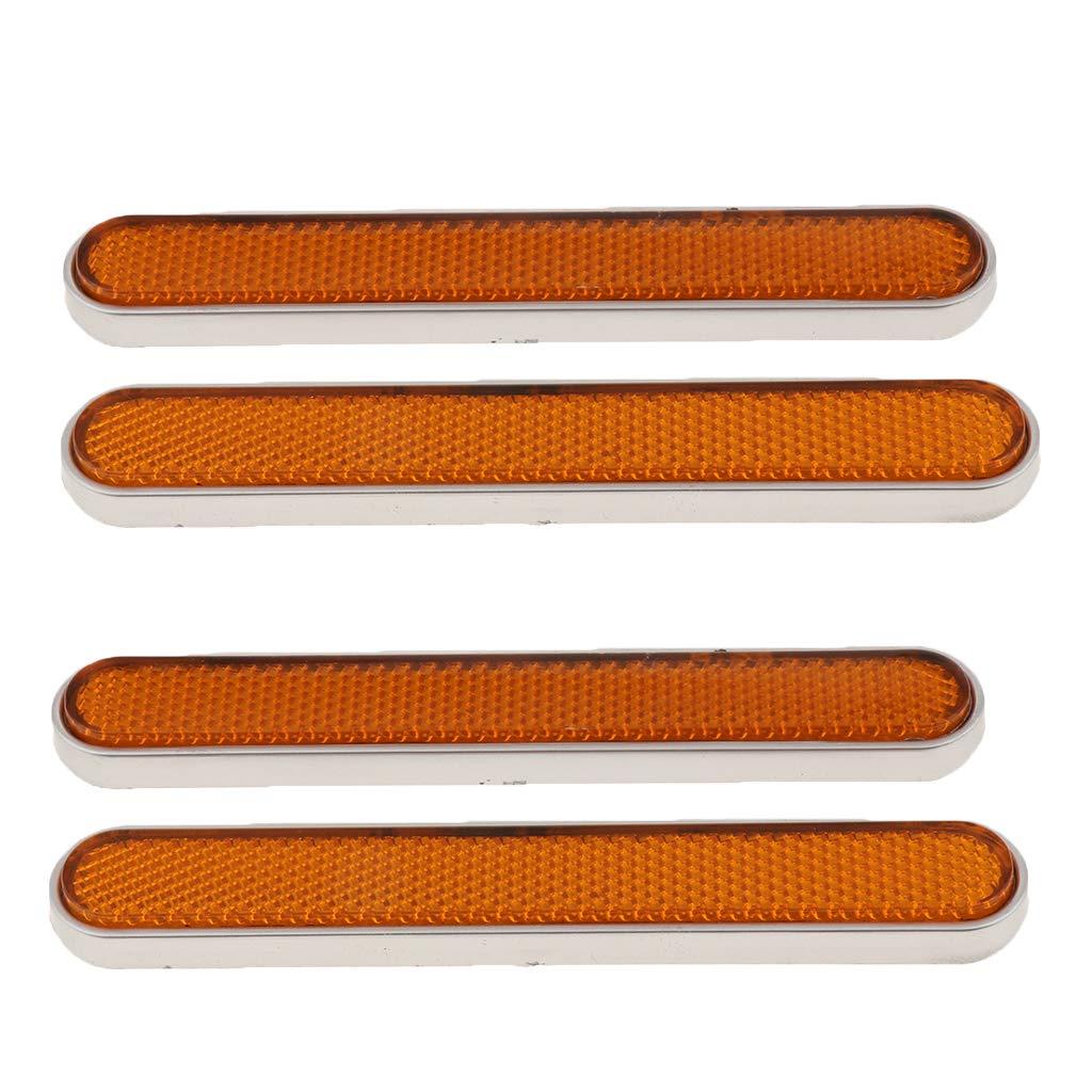 4pcs Motorcycle Side Reflector Compatible for Harley Sportster XL 883 1200 Orange Front Fork Leg Reflectors