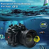 Sea frogs 130ft/40m Underwater Camera Housing Waterproof Case for Sony A9