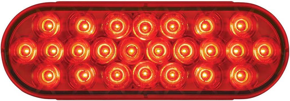9~36V Clear Lens GG Grand General 76477 2 Oval Pearl Red Led Strobe Light