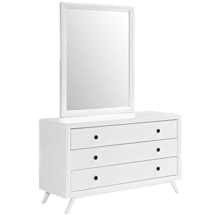 Amazoncom Modway Tracy Mid Century Modern Dresser And Mirror In