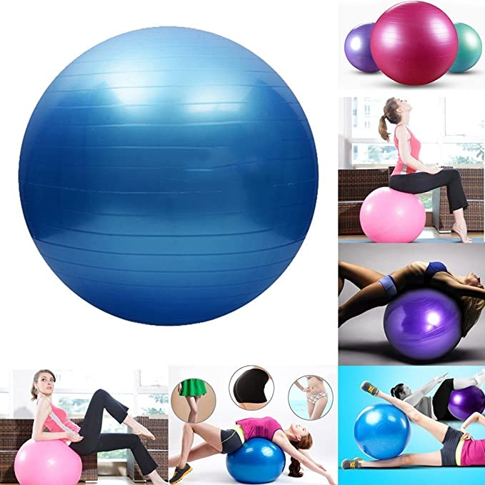 Divinext Inflatable Gym Ball With Foot Pump For Total Body Fitness, Abdominal Toner - Diameter 65Cm Balance Trainers at amazon
