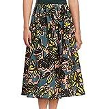 Weekend Max Mara Women's Silk-Blend Licenza Floral Bloom Skirt (14, Yellow Flower)