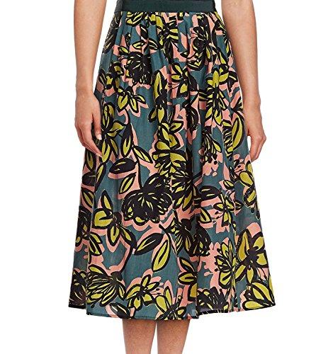 Weekend Max Mara Women's Silk-Blend Licenza Floral Bloom Skirt (14, Yellow Flower) by MaxMara