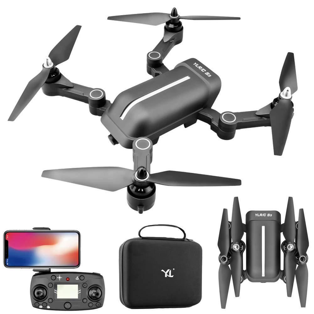 Drone GPS, Drone con Cámara 1080P HD, Quadcopter GPS WiFi,Avión Radiocontrol con Follow Me, 120ordm; Gran Angular, Control Remoto, RTF Altitude Hold, Modo Sin Cabeza y Retorno a Casa