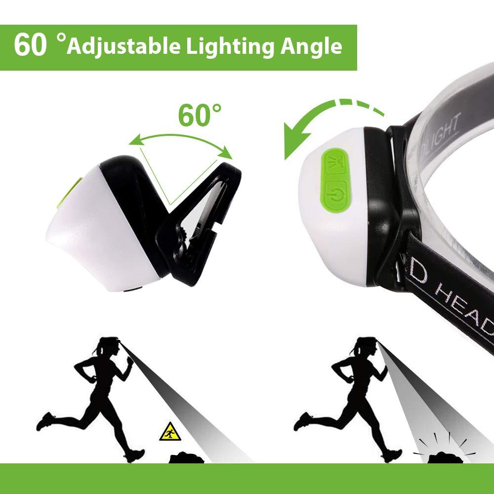 Karrong Stirnlampe LED USB Wiederaufladbare Mini Leicht Stirnlampen Kopfleuchte Sensor Kopflampe IPX6 Wasserdicht Super hell 5 Modi Perfekt f/ürs Outdoor Kinder Sport Joggen Laufen Angeln