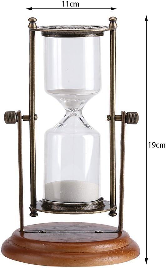 15 minutes Horloge de sable pour salle de sauna Minuterie en verre Sablier en bois fix/é au mur avec sable rose Horloge de sable pour sauna