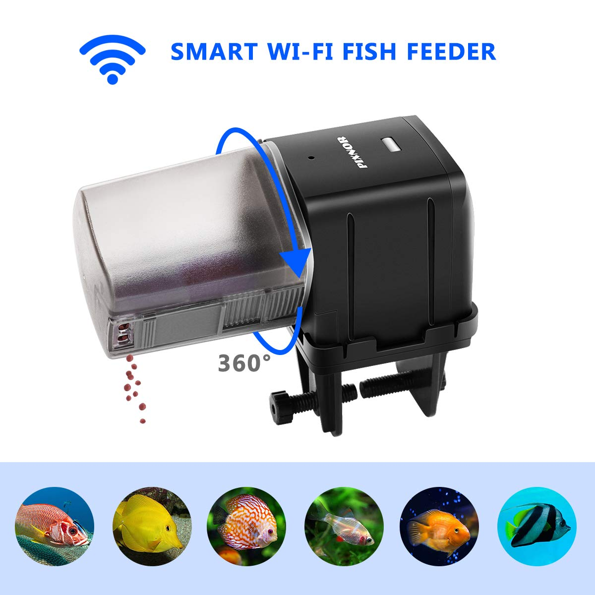 PIXNOR Automatic Fish Feeder Fish Food Dispenser Digital Feeding Unit for Aquarium Fish Tank (WiFi APP Remote Control and USB Powered) by PIXNOR (Image #8)