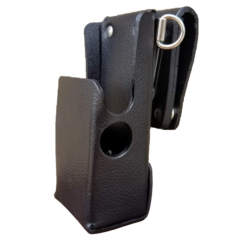 Case Guys MR8608-3AWD Hard Leather Swivel Belt Loop Holster Case with Antenna Loop and Shoulder Strap Rings for Motorola APX 6000 8000 Two Way Radios