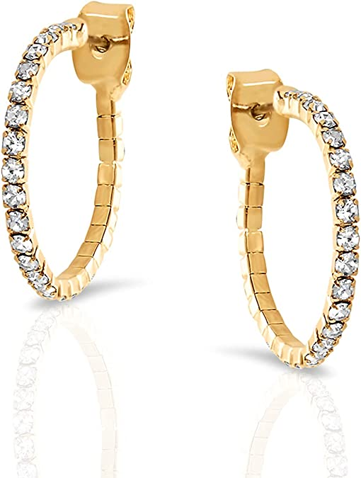 Delicate Earrings\uff0cMost Favorited  Hoop Earrings\uff0cElegant chic earrings gold plated\uff0cAs a gift for special occasion,Gift for Her,Easter Gift.