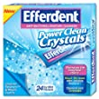 Efferdent Power Clean Crystals, 24 Count (Pack of 3)