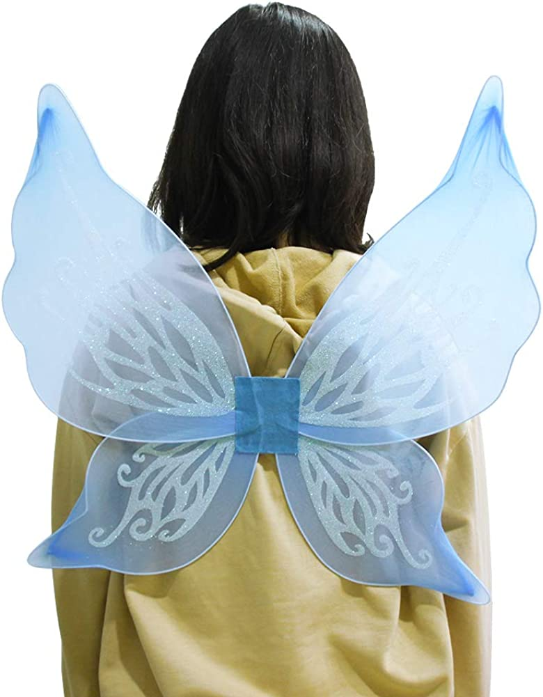 Girls Butterfly Birthday Favors And More And Angel Wings For Kids For Garden Parties Set of 4 Fairy Multi Color Halloween Costumes