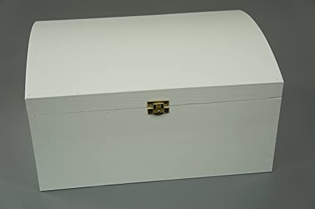 decocraft w extra large treasure chest white wooden box wood
