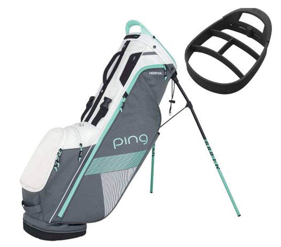 bbcb32b4c6 Amazon.com   PING Women s Hoofer Lite Stand Golf Bag 2018 (Grey White Mint)    Sports   Outdoors