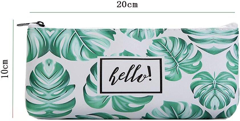 WeiMay Trousse /à crayon mode simple Style Toile Stylo Sac de rangement pour des Crayons ou des Cosm/étiques vert