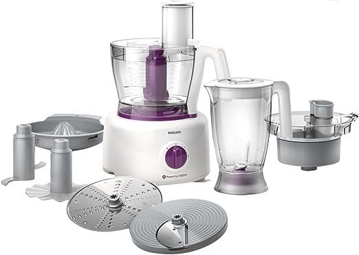 Philips Viva Collection HR7751/00 - Robot de cocina (3,4 L, Púrpura, Blanco, Giratorio, 2,2 L, 1,2 m, Alpha-Methylstyrene (AMS) Plastic, ABS sintéticos): Amazon.es: Hogar